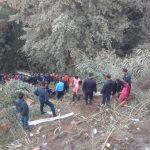 काभ्रेको बनेपाबाट भकुण्डे जाँदै गरेको बस दुर्घटना